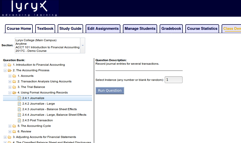 instructor tools in class questions page powered by kayako in class questions